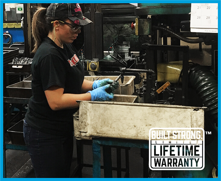 Built Strong limited lifetime warranty