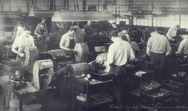 vintage photo of Channellock factory workers