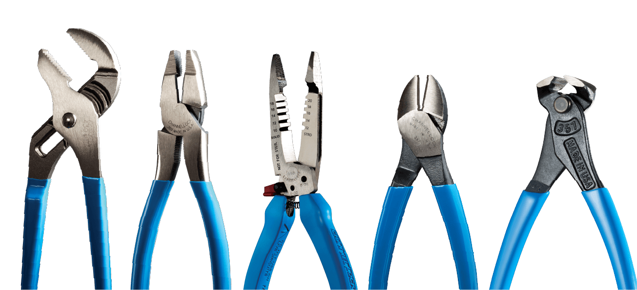 row of channellock tools