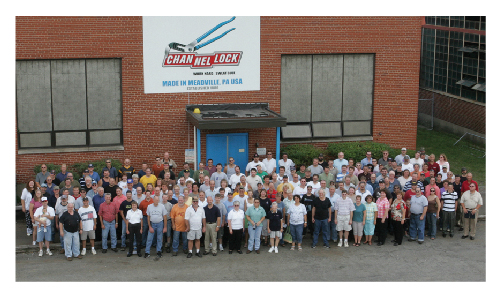 Channellock Staff Outside Plant